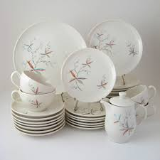 Modern Kitchen Plate Set Vintage Dinnerware Set Finesse Carefree True China By Syracuse