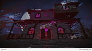 halloween video background loop haunted house haunted house full moon night footage stock video footage 8985188