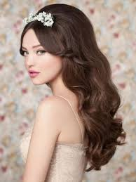 heart shaped face long waves hairstyle