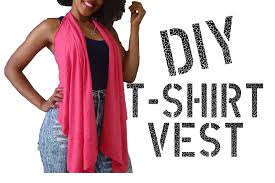 diy how to make a vest from a t shirt youtube