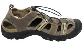 mens suede leather closed toe sandals summer hiking shoes brown