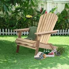 Folding Adirondack Chairs Sale Merry Products Foldable Adirondack Natural Finish Patio Chair Kit