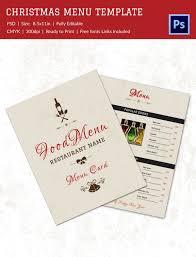 christmas menu template 37 free psd eps ai illustrator word