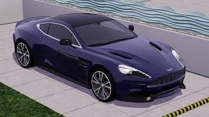 purple aston martin fresh prince creations sims 3 2014 aston martin vanquish