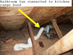 venting exhaust fan through roof how not to vent a bathroom fan gaudet inspections llc