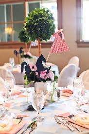 kentucky derby bridal shower topiary centerpieces each horse
