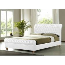 richmond 6ft super king size white faux leather bed cheapest