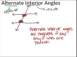 Alternate Interior by Alternate Interior Angles Lesson Geometry Concepts