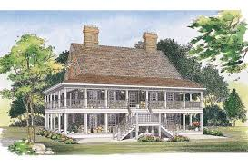 wrap around porch home plans eplans country house plan two levels wraparound porches house