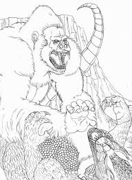 amazing fight godzilla king kong coloring pages bulk color