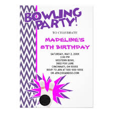 bowling birthday party invitations u0026 announcements zazzle