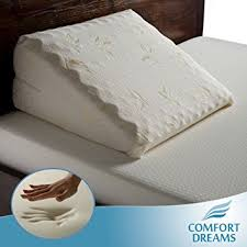 bed wedge pillow amazon com memory foam bed wedge pillow by comfort dreams home