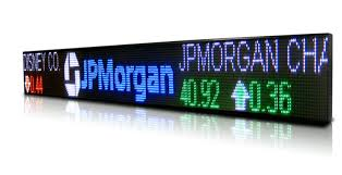 stock ticker electronic led signs as stock ticker