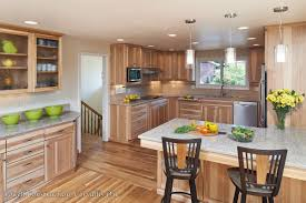 Kitchens With Hickory Cabinets This Full Kitchen Remodel Features Calico Hickory Quarter Sawn