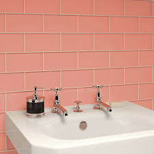 coral colored bathroom tile comely coral pinterest