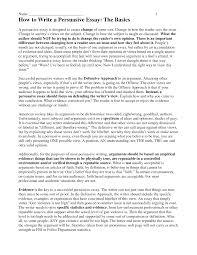 argumentative essay example college