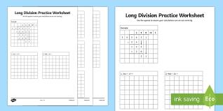 long division practice worksheet long division practice