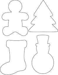 Free Printable Christmas Ornaments Stencils | felt crafts templates felting template and craft