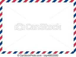 envelope border pattern classic envelope border with red and blue colors for vector