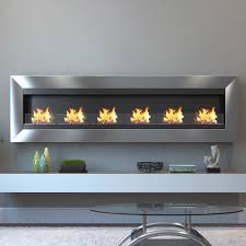 moda flame verrazano 82 in wall mounted ethanol fireplace in