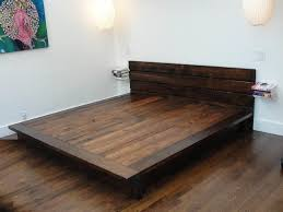 Build A Wood Bed Platform by Diy King Platform Bed Frame Woodworking Pinterest King