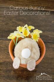 easter bunny decorations curious bunny flower pot easter decorations