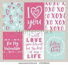 Designs Of Making Greeting Cards For Valentines Set Greeting Card Valentines Day Be Stock Vector 362689811
