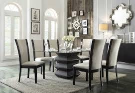 dining room sets los angeles homelegance havre dining set beige fabric chairs 5021 54 din set