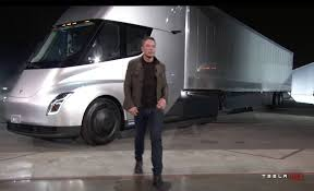 electric semi truck photos elon musk unveiled tesla u0027s new electric semi truck and new