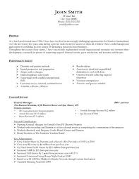 Resume For Spa Manager Goals In Resume Example Homework Doer Free Sincerely Regards Cover