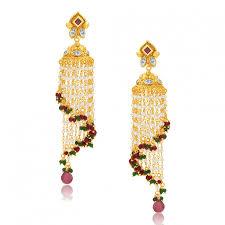 jhumki earring grab online sukkhi alluring gold plated jhumki earring for women