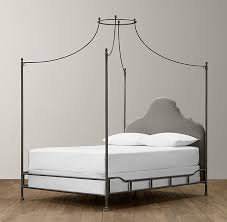 Iron Canopy Bed Iron Canopy Bed Fog Vintage Velvet