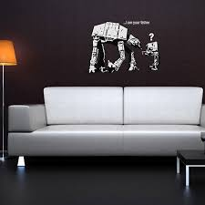 banksy i am your father wall sticker star wars wall decor