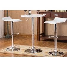 Xert Bar Table Modern White Bar Tables Sets Allmodern