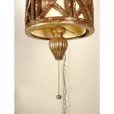 vintage hanging ceiling light faux bamboo swag lamp