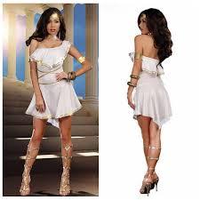 Egyptian Goddess Costume Buycostumes Com Women U0027s White Greek Goddess Irregular Elegant Dress Halloween