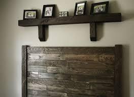 reclaimed wood headboard with shelves indoor u0026 outdoor decor