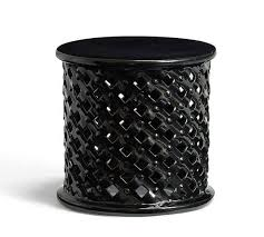 Ceramic Accent Table Black Ceramic Accent Table