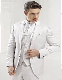 costume pour mariage nouvelle authentique fit blanc hommes s seul bouton châle revers