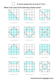 area maths work sheets