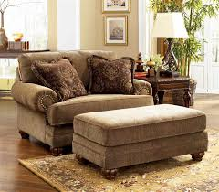 Leather Armchair With Ottoman Luxury Leather Chair And A Half With Ottoman In Home Decor Ideas