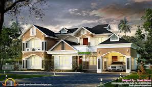 modern western style house kerala home design floor plans home