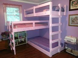white girls bunk beds white wooden three level bunk beds for small rooms and brown