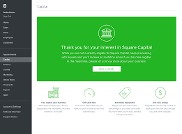 get started with square capital square support center us