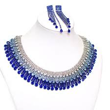 rhinestone collar necklace images Simple details rhinestone collar necklace set karina boutique jpg