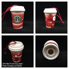 2010 to go cup japan starbucks ornament