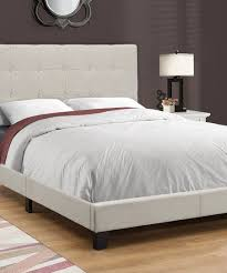 Tufted Bed Frame Monarch Specialties Beige Modern Tufted Bed Frame Zulily