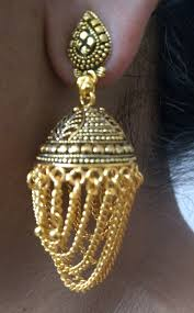 jhumka earrings with chain jhumka earring with golden chain u fairy