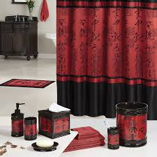cute black and red bathroom accessories cowboy design attributes