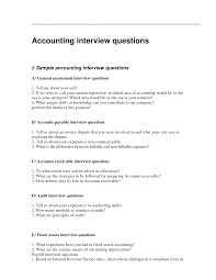 Questionnaire For Home Design by Accountant Interview Questionnaire Sample An Accountant Interview